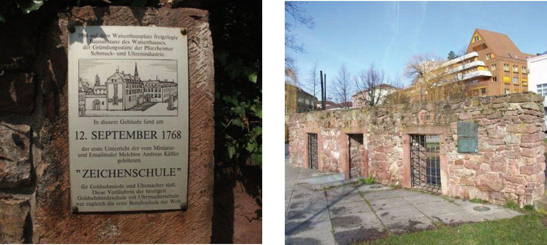 Ruinenreste des Pforzheimer Waisenhauses